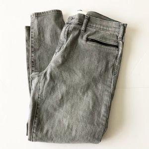 NWOT Gap 1969 Gray True Skinny Ankle Zipper Jeans